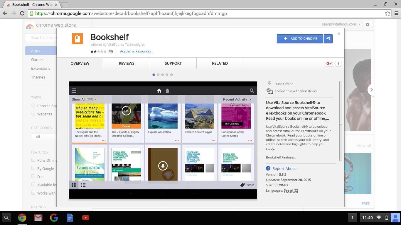 Installing Bookshelf On Chromebook EVantage